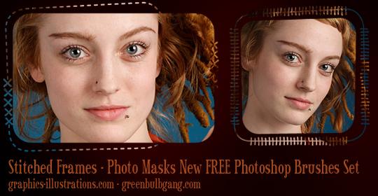 Stitched Frames - Photo Masks Photoshop brushes