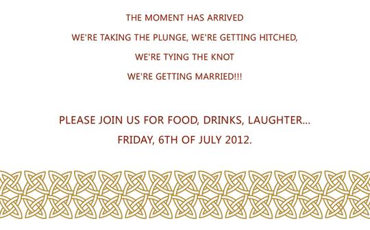 Facebook Friends Wedding Invitation Template And Stuff
