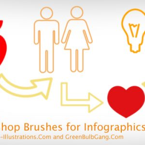 Photoshop Brushes for Infographics