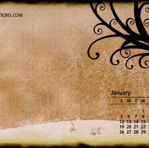 Desktop Wallpaper w/Calendar January 2014