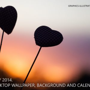 Two Hearts In The Sunset – Desktop Background Wallpaper