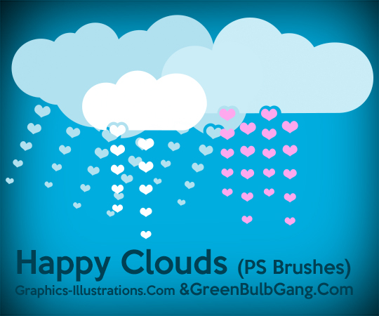 Happy Clouds, Free Photoshop Bruhses set