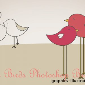 Love Birds Photoshop Brushes Set