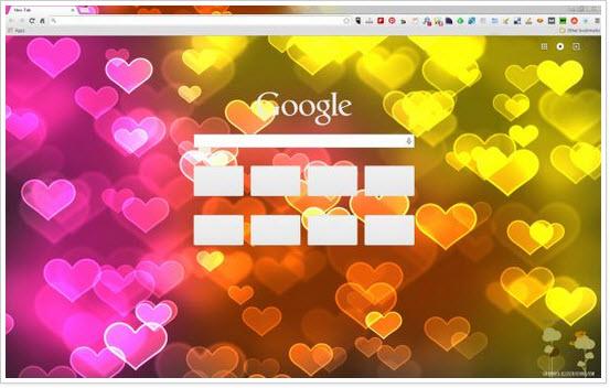 Valentine's Day Custom Theme for Chrome