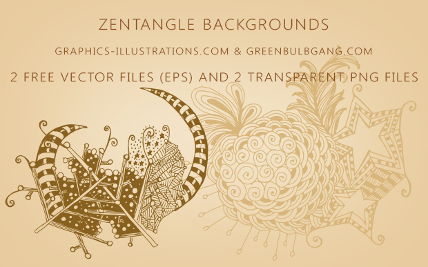 Zentangle Free Vectors, backgrounds