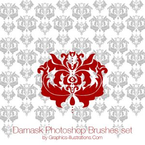 Damask Photoshop Brushes