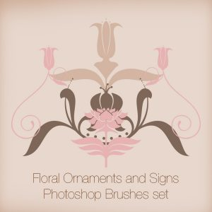 Floral Ornaments and Signs PS Brushes