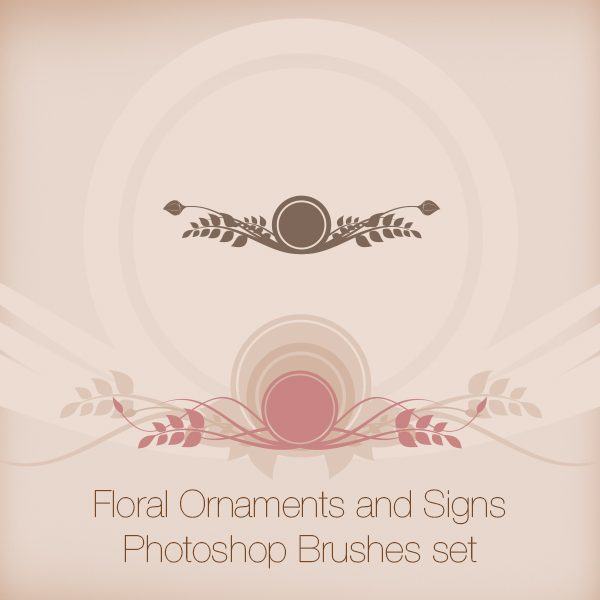 Floral Ornaments and Signs Photoshop Brushes