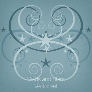 Swirls and Stars Vector set