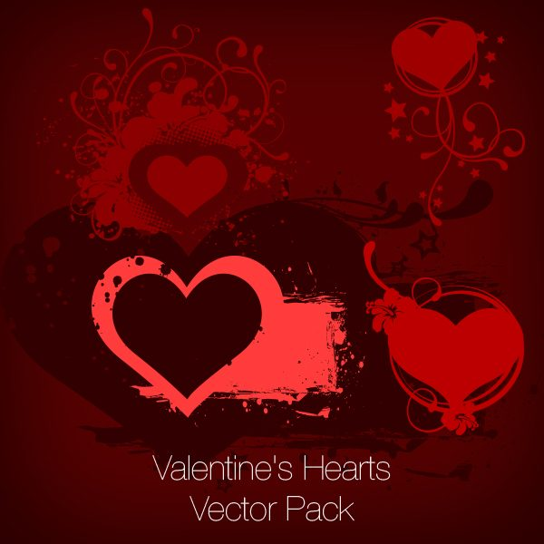 Valentine's Hearts Vector Set