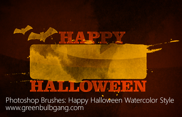 Photoshop Brushes -  Halloween Watercolor Style