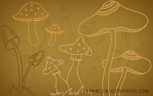 Photoshop Brushes - Mushrooms