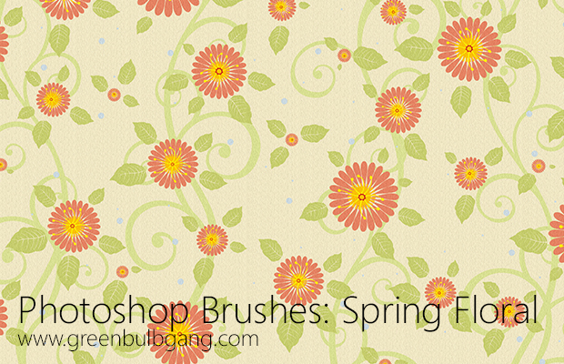 Photoshop Brushes: Spring Floral