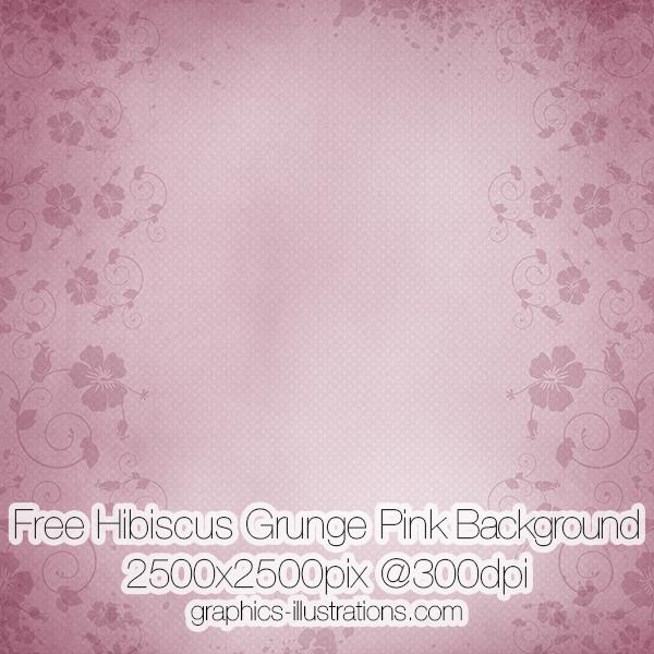 Free Hibiscus Grunge Pink Background