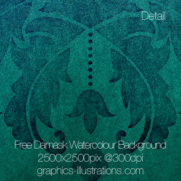 Damask Watercolour Background (blue-green)