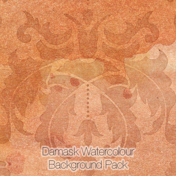 Damask Watercolour Background