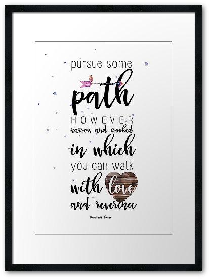 Pursue some path Framed Prints