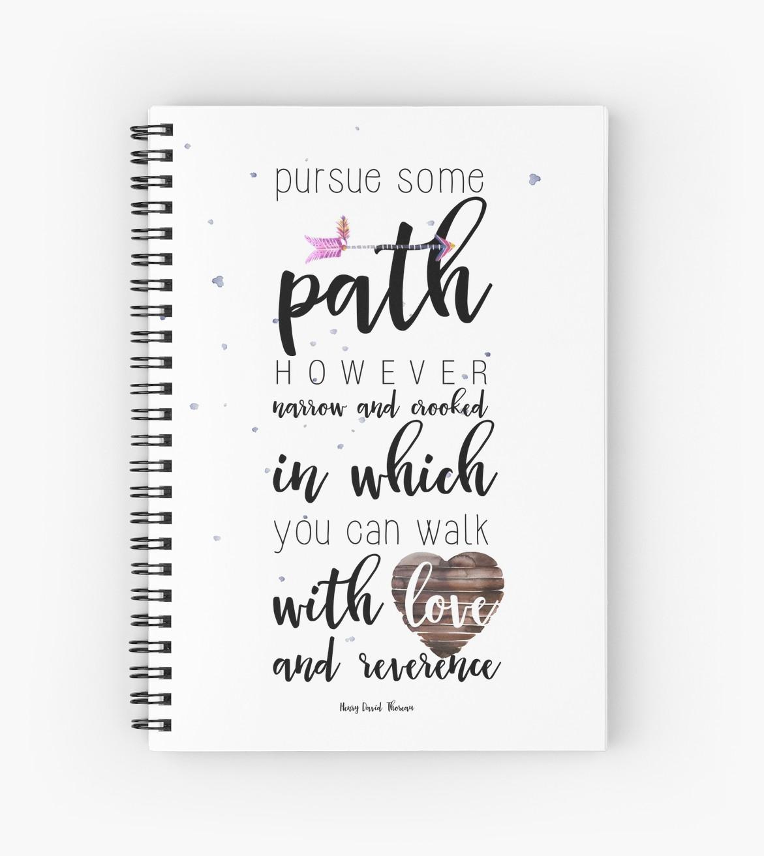 Pursue some path Spiral Notebooks