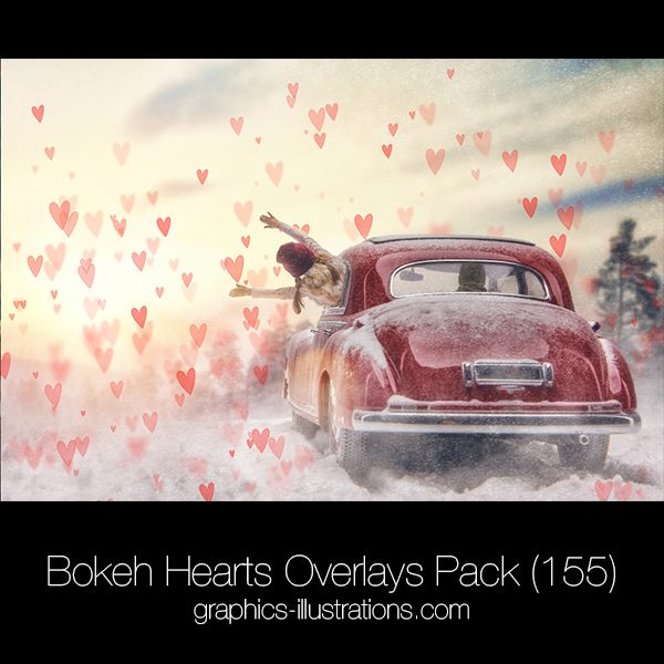Bokeh Hearts Overlays (155)