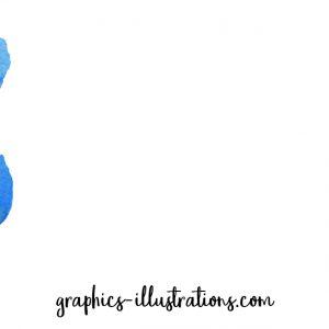 April eZine is out Bringing Free Blue Floral Watercolor PNG's