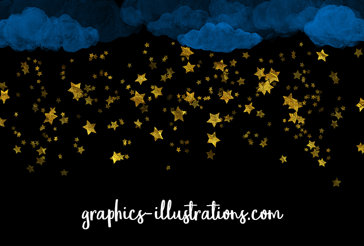 FREE Clouds and Stars Overlays/Bgrs (png and jpg)
