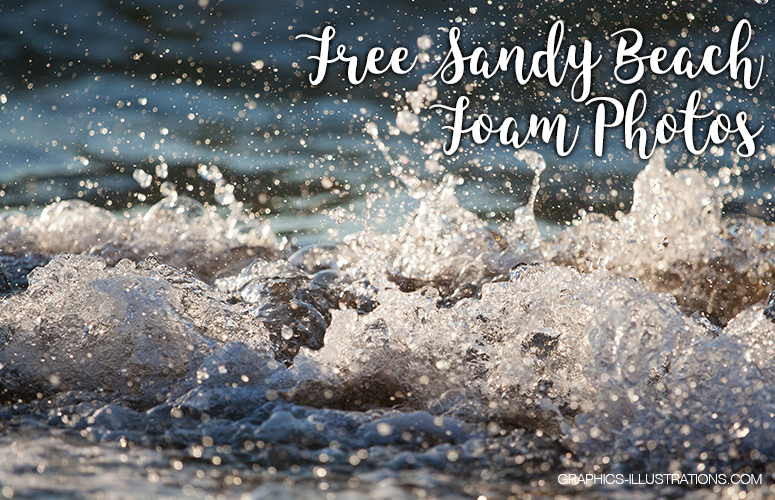 Free Sandy beach foam photos