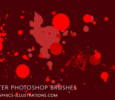 Free download: Photoshop Splatter Brushes