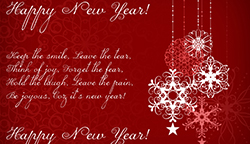 Red and White Christmas (New Year) card template, commercial use, free PSD file