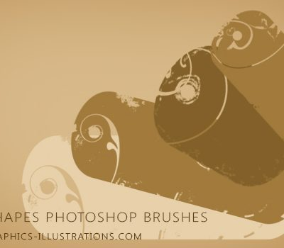 Tag shapes Photoshop 7.0 brushes for digital scrapbooking and more