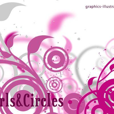 Swirls and Circles Photoshop Brushes Set