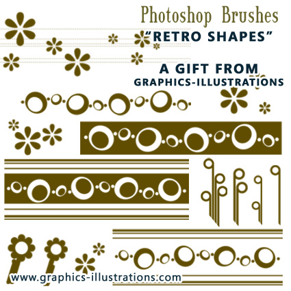 FREE Retro Shapes Photoshop Brushes set