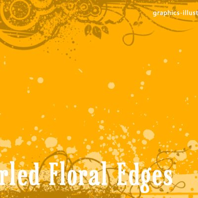 download free version of Swirled Floral Edges GIMP brushes set (4 brushes) ->