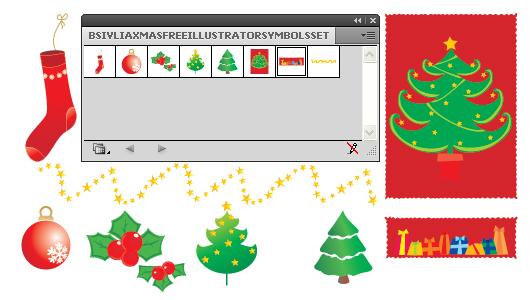 Adobe Illustrator Christmas & New Year Symbols set - Free Download