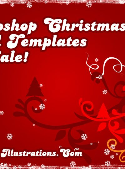 Photoshop Christmas Card Templates - On Sale!