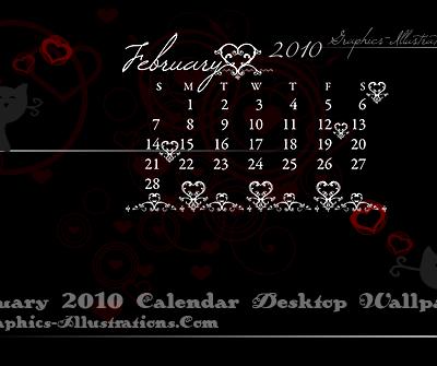 February 2010 Calendar Desktop Wallpaper