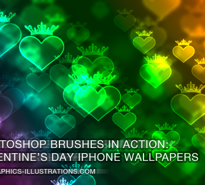Photoshop brushes in action: valentine's day iPhone Wallpapers