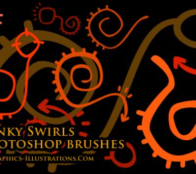 Photoshop brushes - Funky Swirls