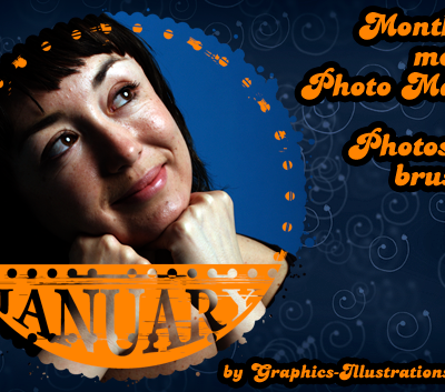 Month by month Photo Masks Photoshop brushes set (36) + 36 PNGs