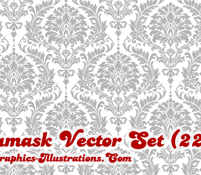 Damask Vector Illustrations