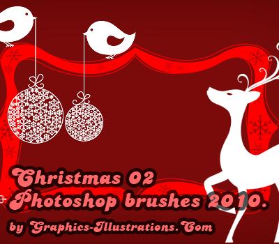 Christmas II Photoshop brushes 2010. Edition!
