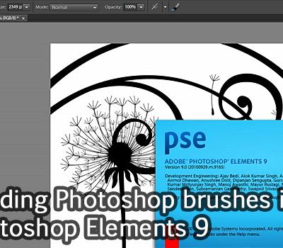 Tutorial: Loading Photoshop brushes to Photoshop Elements 9