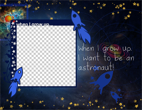 Digital Scrapbook Quick page: Decoration for Your Kids Room (freebie)