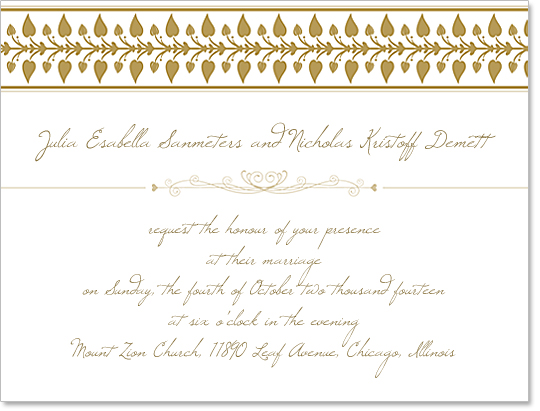 Wedding Invitation Template Design Free Download