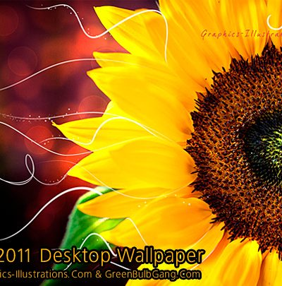 "Free Download: July 2011 Desktop Wallpaper ""Sunflower"""