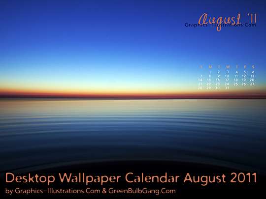 Desktop Wallpaper Calendar August 2011
