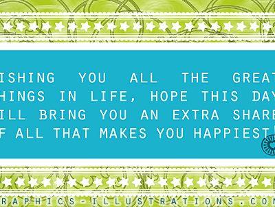 Printable Happy Birthday Card - Free Photoshop Graphic