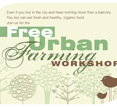 Grow Your Own Food - Workshop Flyer Design