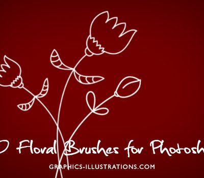 Photoshop brushes, vector graphics, transparent PNG files - all in one pack: Floral 2