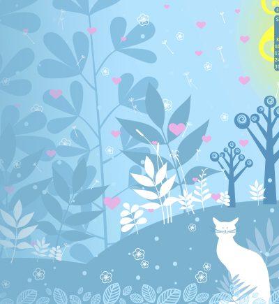 May 2015 Desktop Calendar - feat. Swirled Trees Photoshop brushes