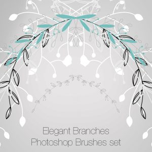 Elegant Branches Photoshop Brushes